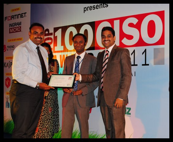 Jawed ahmed head IT Sterlite Technologies Top 100 CISO Award Winner