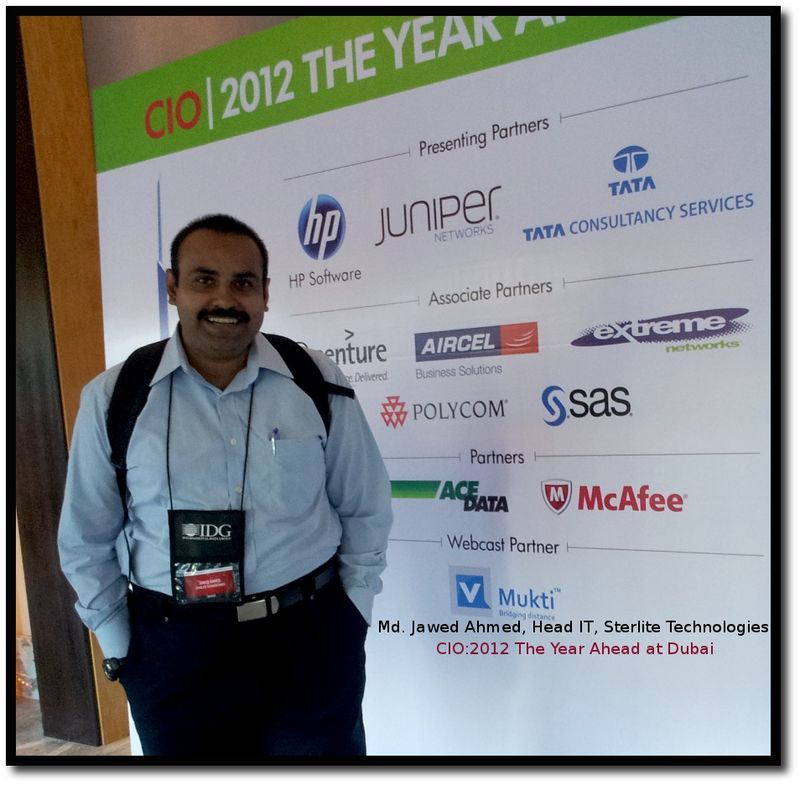 Jawed ahmed at year ahead 2012 in Dubai Taj Palace